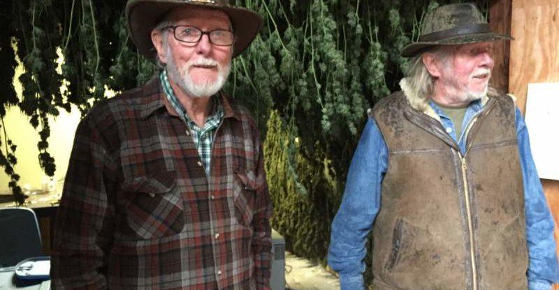 John and Robert Cunnan have grow medicinal marijuana in Mendocino County and oppose Prop. 64 (ROBIN ABCARIAN/Los Angeles Times)