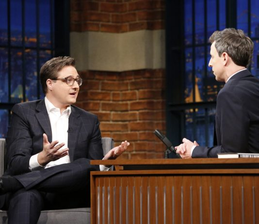 MSNBC Host Chris Hayes talking about being caught with weed. (Photo via Chicago Tribune)