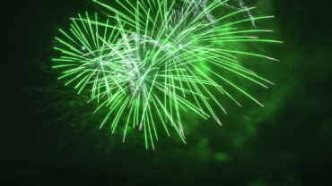 Green fireworks for recreational marijuana.