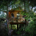 "The Pot Leaf Tree House at Mountain Views Bed and Breakfast, a cannabis friendly ""bud and breakfast"" near Monroe, Washington. Heather Irwin/Sonoma Magazine"