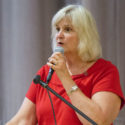 First District Supervisor Susan Gorin spoke to the attendees. A town hall meeting was held on Monday, July 18, at the Veterans Memorial Hall to discuss the implications of legalizing marijuana in California